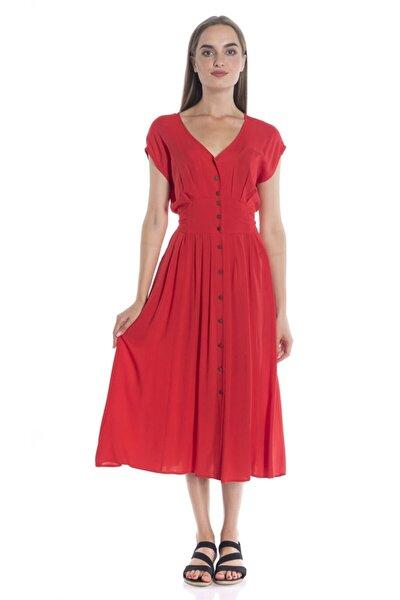 Kadın Kırmızı Casual Elbise - Bga93414614