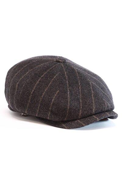 Erkek Kahverengi Kaşmir İngiliz Model Kasket Şapka