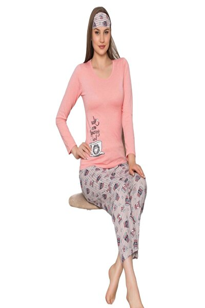 Kadın Pamuklu Uzun Kollu Pijama Takımı