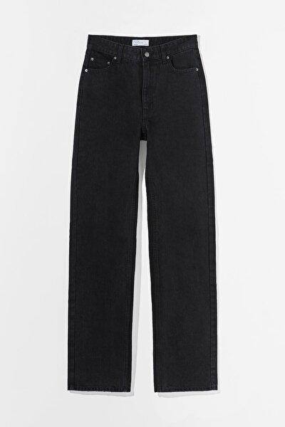 Kadın Straight Fit Yüksek Bel Jean