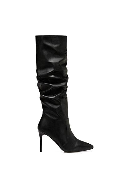 PINTO Siyah Kadın Ökçeli Çizme 100582070