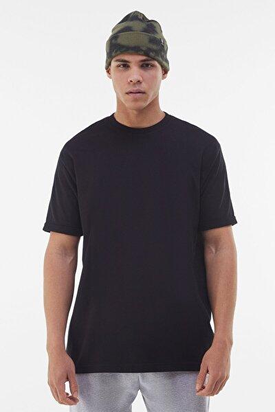 Erkek Siyah Long Fit T-shirt