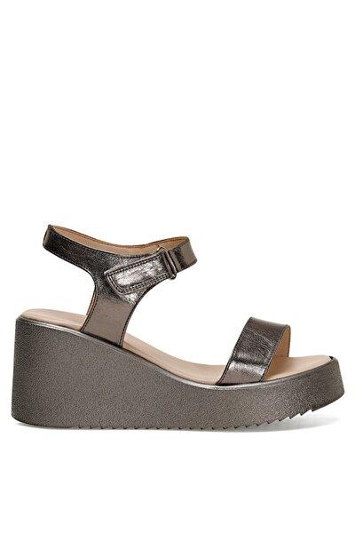 KALAN Gümüş Kadın Dolgu Topuklu Sandalet 100526101