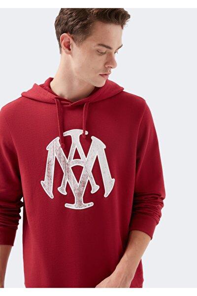 Mühür Logo Baskılı Kırmızı Sweatshirt