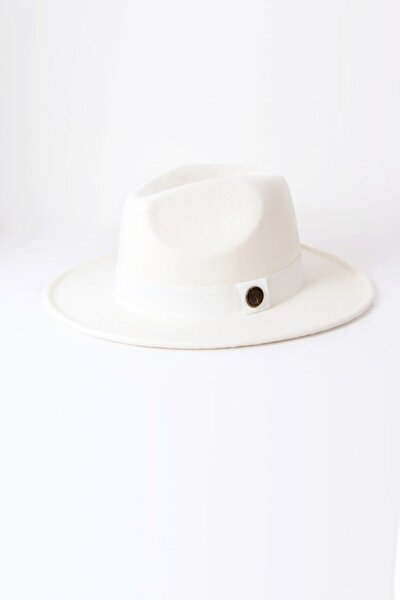 Beyaz Fötr Şapka - Panama Şapka
