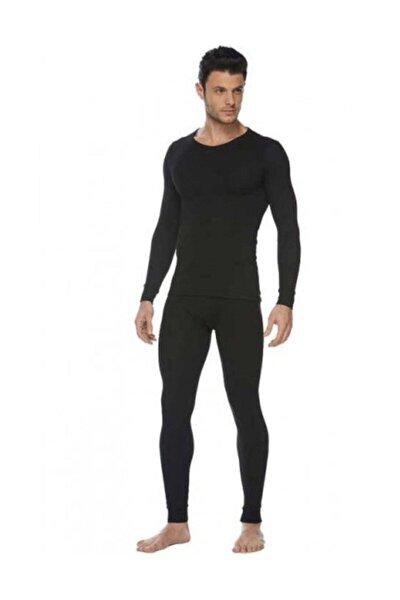 Erkek Siyah Termal Takım Alt Üst 0125-0126