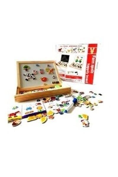 Wooden Toys Eğitici Geliştirici Mıknatıslı Çiftlik Oyunu Ve Yazı Tahtası