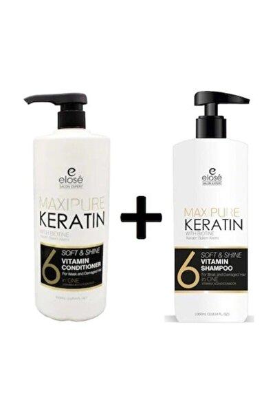Keratin Özlü Saç Bakım Şampuanı Ve Kremi 1000+1000 ml