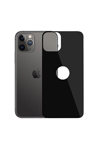 Iphone 11 Pro 5.8 Inch 2019 Full Arka Koruma Tempered Kırılmaz Cam - Siyah