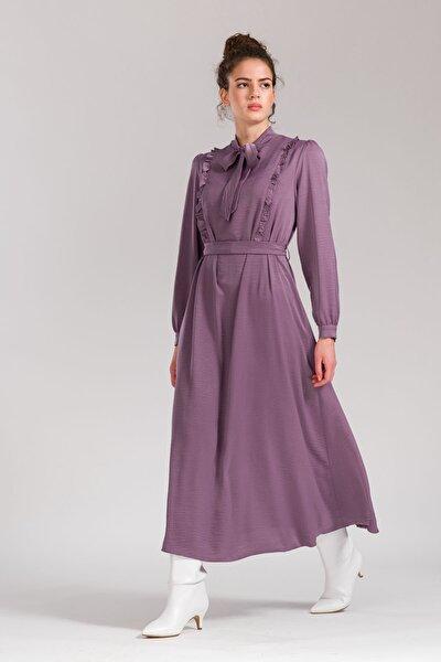 -fırfırlı Elbise Lila 5095