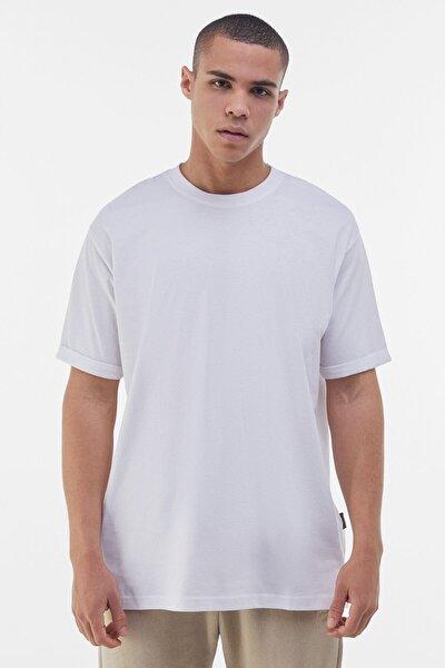 Erkek Beyaz Long Fit T-shirt
