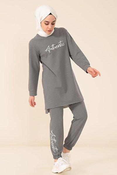 Aunthantıc Baskılı Pantalonlu Takım