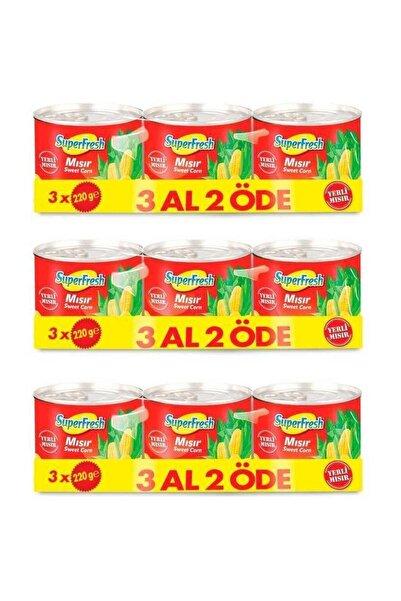 Mısır Konserve 220 gr X 3 Adet X 3 Paket