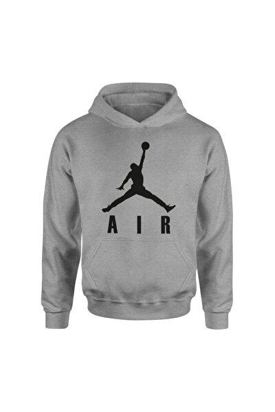 Air Jordan Usual Text Gri Hoodie