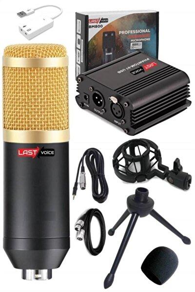 Bm800 Kondenser Mikrofon + Phantom Power + Mini Tripod