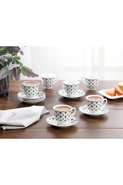 Ilda Porselen 6'lı Kahve Fincan Takımı 90 ml Siyah