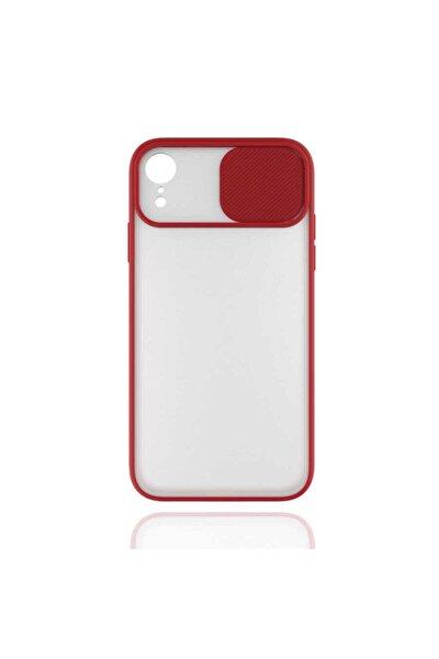Apple Iphone Xr 6.1 Kılıf Renki Çerçeve Mat Yüzey Sürgülü Kamera Korumalı Lensi Kapak