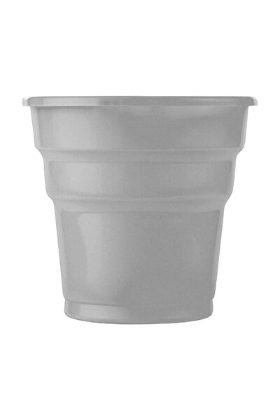 25'li Plastik Parti Bardağı, Gümüş Gri
