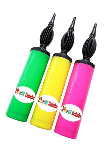 1 Adet Renkli Balon Şişirme Pompası