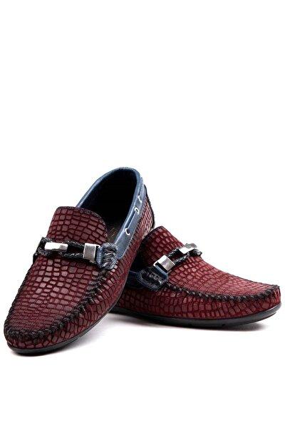 Hakiki Deri Loafer Erkek Ayakkabı Brc300 Bordo