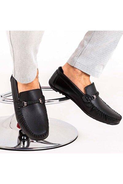 Ortopedik Loafer Erkek Ayakkabı Mln1102 Siyah