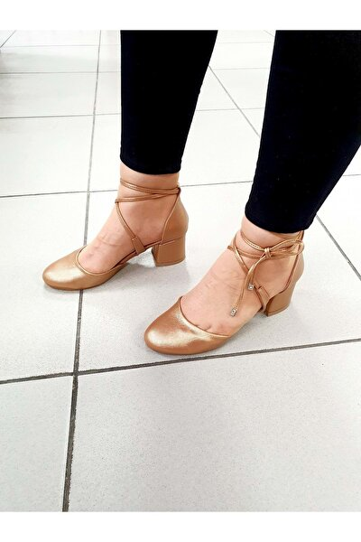 Kadın Pudra Topuklu Ayakkabı