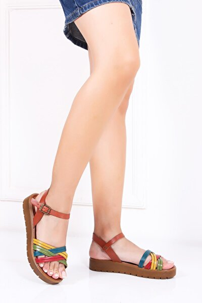 Hakiki Deri Multi-1 Kadın Deri Sandalet Dp-1013