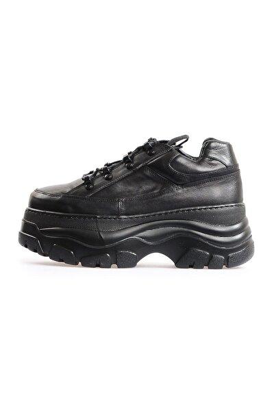 Siyah Yüksek Tabanlı Sneakers