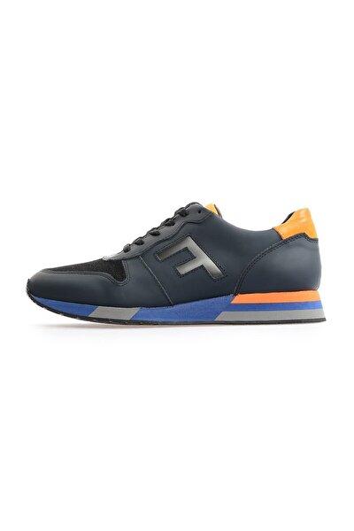 Lacivert F Logolu Erkek Sneakers