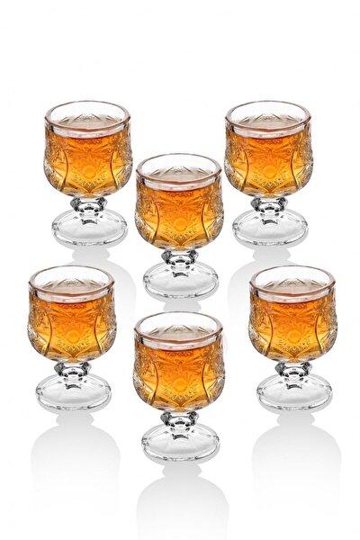 Kristal Kesme 6 Adet Kahve Yanı Su / Likör Bardağı