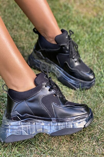 Bayan Şeffaf Taban Spor Ayakkabı