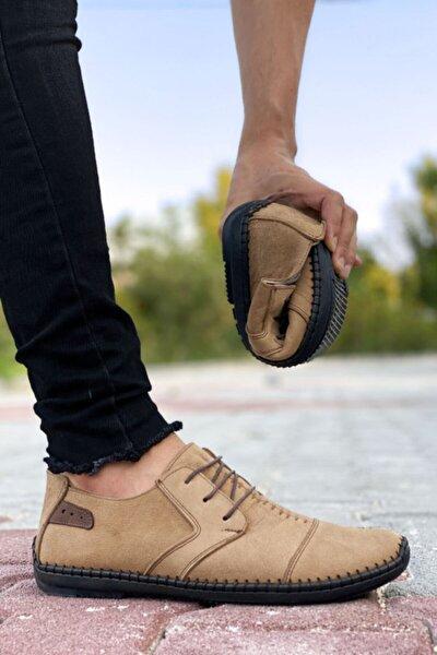 Hakiki Deri Vizon Çarık Model Erkek Ayakkabı