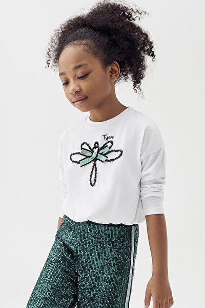 Kız Çocuk Beyaz S-shirt 20pfwtj4401