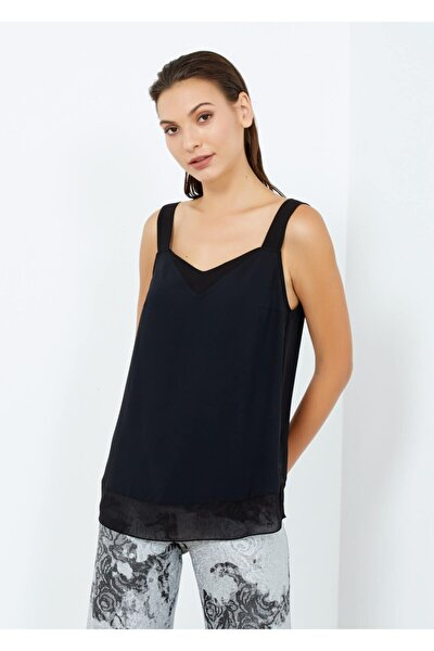 Kadın Siyah Askılı Basic Bluz