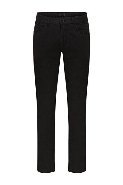 Siyah 5 Cep Pamuk Pantolon