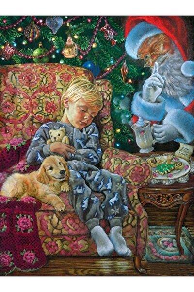 Yılbaşı Gecesi Noel Baba Sürprizi Elmas Mozaik Tablo 43x56cm