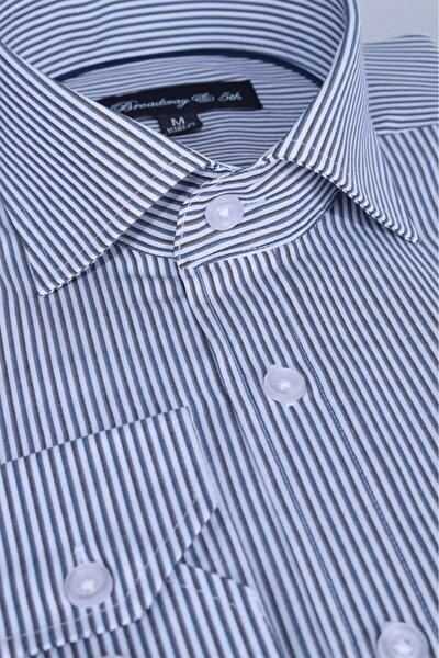 Broadway Uzun Kollu Çizgili Erkek Gömlek