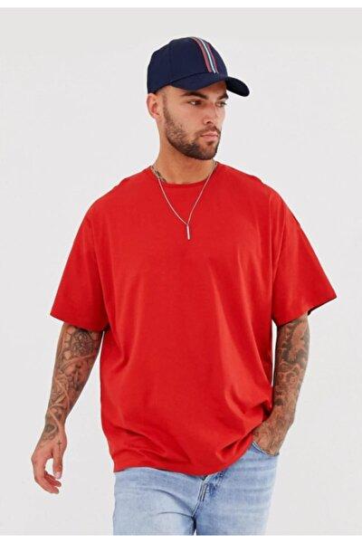 Oversize Kırmızı Basic Tshirt