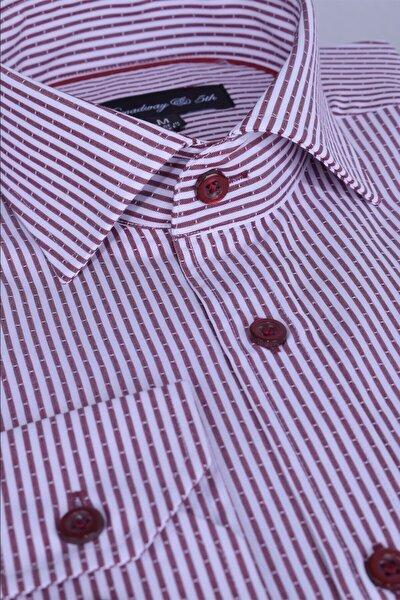 Broadway Uzun Kollu Çizgili Erkek Gömlek Premium