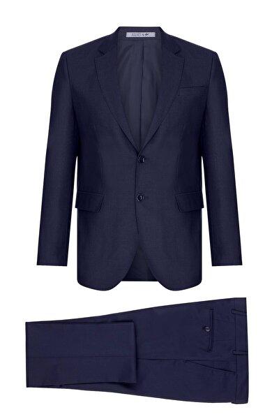 Erkek Lacivert Barı / Geniş Kalıp Std Takım Elbise