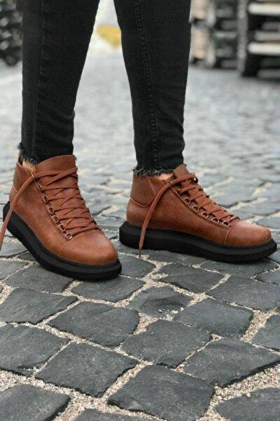 Yüksek Taban Taba Siyah Erkek Ayakkabı
