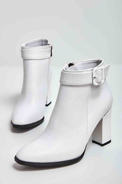 Beyaz Kadın Bot & Bootie M0833020509