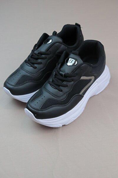Bestof-657053-siyah Yüksek Taban Kadın Spor Ayakkabı