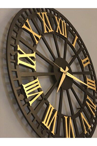 Altın Tasarım Atölyesi Ahşap Rustik Roma Duvar Saati 70 cm