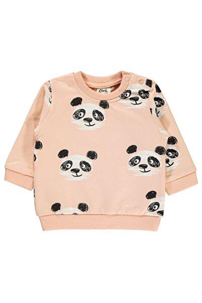 Kız Bebek Sweatshirt 6-18 Ay Somon