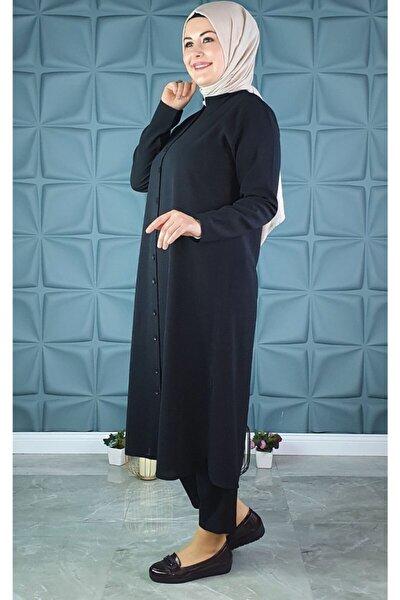 Krep Uzun Tunik Gömlek 445-25