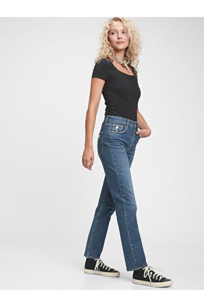 High Rise Straight Jean Pantolon