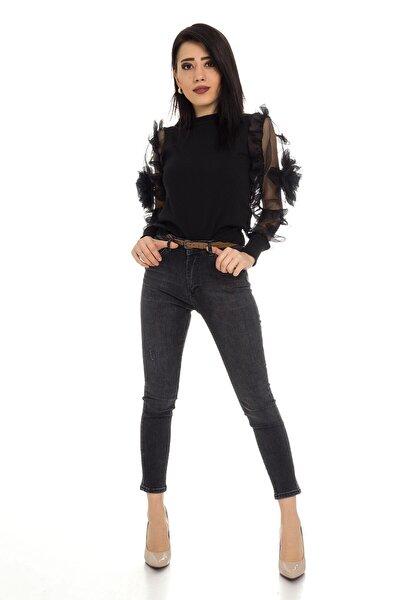 480 Kb Linda Kemerli Taşlamalı Pantolon