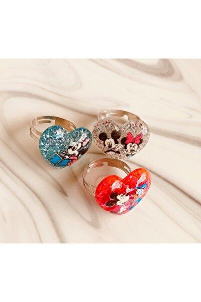 Mini Mouse Ayarlanabilir Çocuk Yüzük (3 Adet)/ Mickey Mouse Çocuk Yüzüğü
