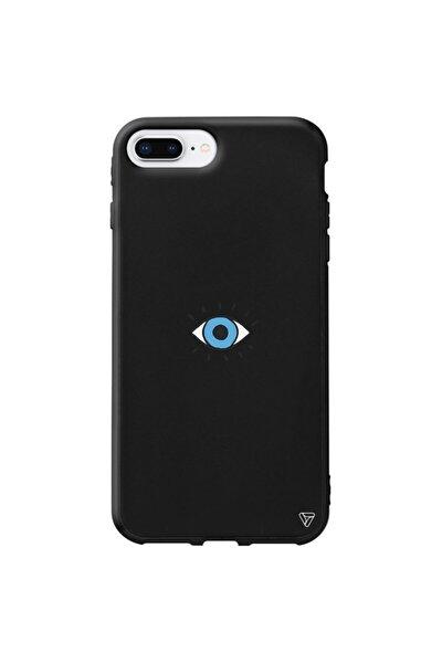 Iphone 8 Plus Siyah Renkli Silikon Tek Göz Telefon Kılıfı